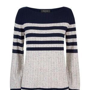 St. John Women's Cashmere Striped Boatneck Sweater